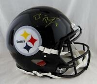 Ben Roethlisberger Signed Steelers F/S Speed Authentic Helmet- Fanatics Auth