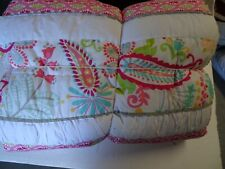 Pottery Barn Teen Swirly Paisley twin quilt New