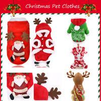 Navidad Ropa de mascota Capucha de perro Vestido para perros. Chaleco de gato