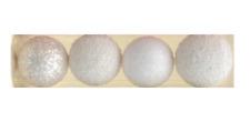Pack x12 3x4 or mixte glitter ball//babiole décoration de noël 50-60mm