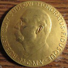 Vintage Robert Clay Sudlow Burroughs Wellcome & Co. Retirement Medal Token
