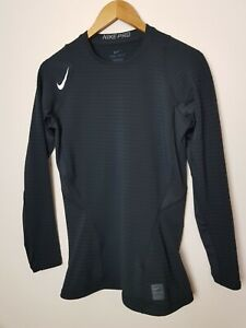 NIKE PRO COMBAT long sleeved DRI FIT COMPRESSION TOP UK size M Base Layer