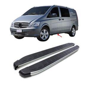 Kit 2 pedane laterali sottoporta in alluminio Mercedes Vito W639/Viano W447