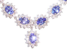 38.40ct Tanzanite & Diamond Necklace & Earrings Set