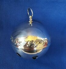Vtg Wallace Silversmiths 1991 Silver Plate Sleigh Bell Christmas Ornament