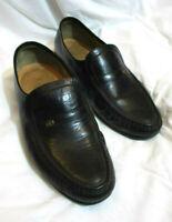 BARKER England Handmade Mens Black Leather Loafers - UK 8 EUR 42