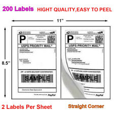 Labels Premium Mailing Shipping 85x55 Half Sheet Self Adhesive For Usps Fedex