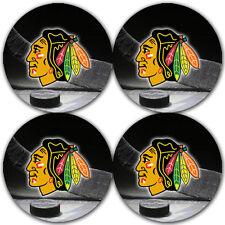 Chicago Blackhawks Hockey Rubber Round Coaster set (4 pack) / Rndrbrcstr2066
