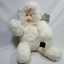 Green Trading USA Angel Baby Plush White 16.5 Inches Tall Very Soft Silver Wings