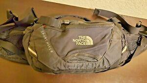 North Face Black Sport Day Hiker Multi Pocket Lumbar Waist Fanny Bag