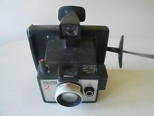 Polaroid Instant Land Camera, Square Shooter 2, vintage, black, strap