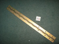 Piano Hinge for Cabinet Door or Chassis 15-inch Long Steel - NOS Qty 1