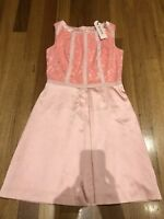REVIEW DRESS Size 12 Pink lace as new P5OFF PERCENT5 5% Combined Postage $279