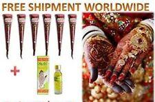 12 Kaveri henna mehandi cones temporary tattoo body art kit free shelly oil 6ml