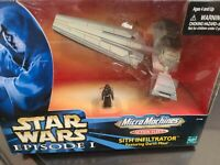 Sith Infiltrator w Darth Maul Action Fleet STAR WARS Episode 1 Micro Machines