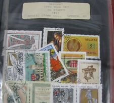 Estate Stamp Collection Hungary 1981-1990 in Binder