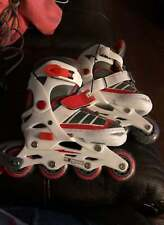 Mongoose switcher Inline skates adjustable size 12 J-2 white/red/grey