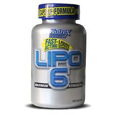 Nutrex Lipo-6 Fast Acting Weight Loss Formula 120 Liquid Vegy Caps