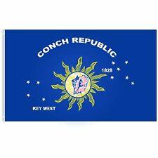 Key West Conch Republic Polyester Flag FL 3x5FT Florida Bar Man Can Boat