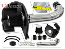 BLACK COLD AIR INTAKE KIT + HEAT SHIELD FOR GMC 14-17 Sierra 1500 5.3L 6.2L V8