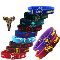 Basketball Star Bracelet adjustable Sports Silicone Rubber Wristband Strap Cuff