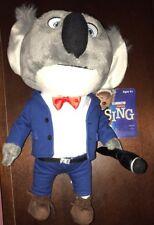 """Universal Sing Movie Buster Koala Bear Plush Soft Stuffed Doll Toy 12"""" NEW"""