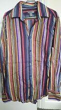 H&M mens striped shirtsize small slim