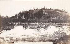RP: YUKON, Canada, 1900-10s; Scow of Lumber Shooting White Horse Rapids