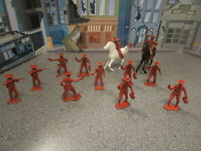 VINTAGE MPC PLASTIC COWBOYS AND INDIANS LOT OF 13  HIGHLY DETAILED