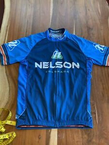 Jakroo Full Zip Cycling Jersey Size Large Nelson COLORADO