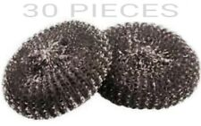 30 PC METAL SCOURERS WIRE KITCHEN CLEANING PADS WASHING UP CATERING & RESTURANTS