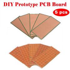 5X 6.5x14.5cm Stripboard Veroboard Uncut PCB Platine SingleSide Circuits Board