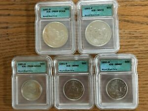 1991 Mount Rushmore Commemorative Coins! Two Dollar Coins and Three Half Dollars