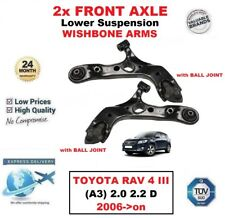 2x FRONT AXLE Lower WISHBONE ARMS for TOYOTA RAV 4 III (A3) 2.0 2.2 D 2006->on