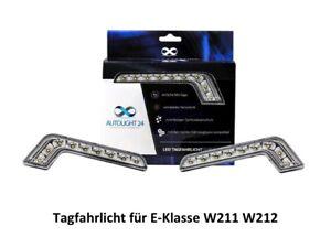 LED Tagfahrlicht + R87 Modul L-Form passend für Mercedes W211 W212 TFL1
