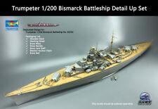 Trumpeter 1/200 Bismarck Battleship Detail Up Set Upgrade Set for 03702