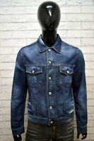 Giubbotto Jeans Blu Uomo ENERGIE Taglia L Giacca Denim Jacket Man Cappotto