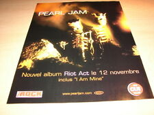 PEARL JAM - RIOT ACT!!!!!!!!!!!!!!1!FRENCH PRESS ADVERT