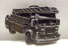 Vintage Bergamot Brass Fire Engine Truck Belt Buckle