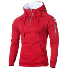 Men Winter Casual Hoodie Warm Fleece Sweatshirt Hooded Coat Sweater Pullover Top