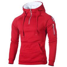 Winter Men Casual Hoodie Warm Fleece Sweatshirt Hooded Coat Sweater Pullover Top