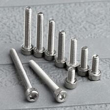 50Pc M3 Srews 4/6/8/10/12/14/16/20/25/30mm Stainles Steel Hex Hexagon Screw Bolt