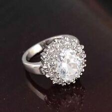 Platinum Natural Stone Costume Rings