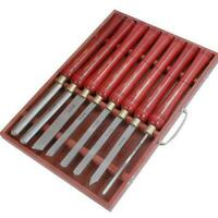 Quality 8pc HSS Lathe Carving Wood Chisel Gouge Set (Genuine Neilsen CT0056)