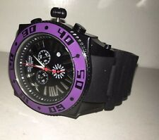 AQUASWISS Chronograph SWISSport Swiss mens Watch black purple New