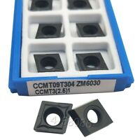 50pc CCMT09T304 CCMT3-1-SM IC907 Turning tool boring carbide insert for stainles