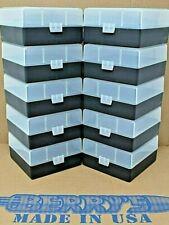 Berry's (10) 100 Round Clear / Black Plastic Ammo Storage Box 223 / 222 / 5.56