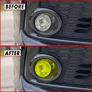 FOR 16-21 Honda Civic Fog Light YELLOW JDM Vinyl Tint Hatchback Sedan Coupe