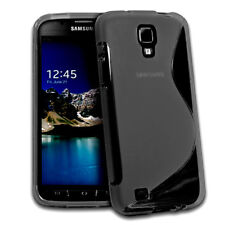 For Samsung Galaxy S4 Active, i537 Gray Soft Gel TPU Case Cover