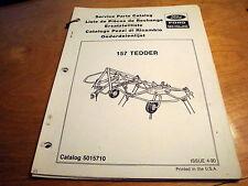New Holland 157 Hay Tedder Rake Parts Catalog Book List Manual NH